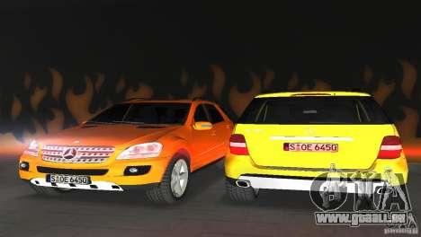 Mercedes-Benz ML 500 für GTA Vice City Innenansicht