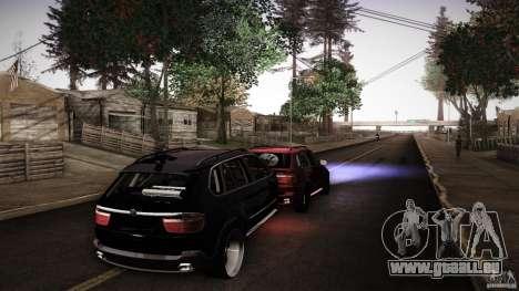 BEAM X5 Trailer pour GTA San Andreas sur la vue arrière gauche