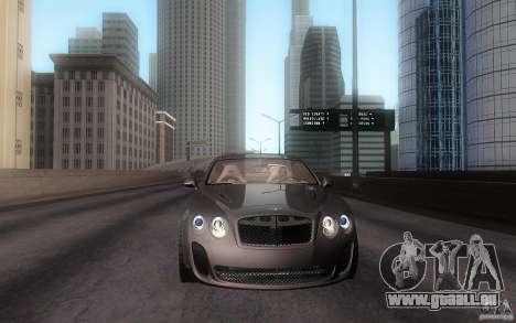 Bentley Continental SS für GTA San Andreas zurück linke Ansicht