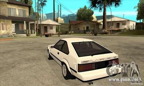 Toyota Celica Supra 1984 pour GTA San Andreas sur la vue arrière gauche