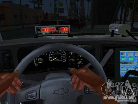 Chevrolet Suburban Los Angeles Police pour GTA San Andreas vue de droite