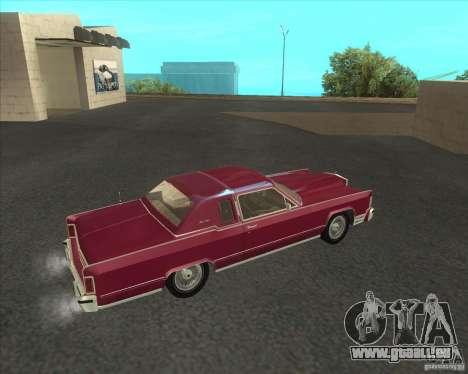 Lincoln Continental Town Coupe 1979 pour GTA San Andreas laissé vue
