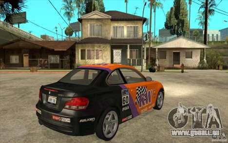 BMW 135i Coupe für GTA San Andreas Rückansicht