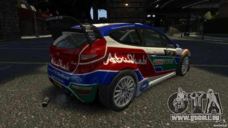 Ford Fiesta RS WRC pour GTA 4 Vue arrière de la gauche