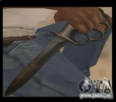 Couteau poing sans chrome pour GTA San Andreas