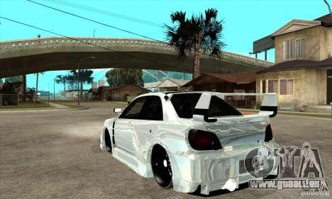 Subaru Impreza Tunned pour GTA San Andreas sur la vue arrière gauche