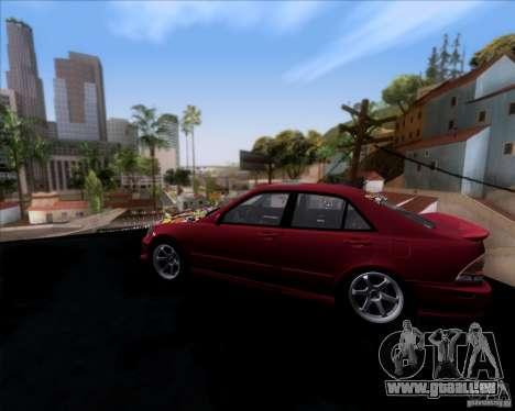 Lexus IS300 Hella Flush pour GTA San Andreas laissé vue