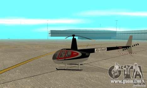 Robinson R44 Raven II NC 1.0 2 la peau pour GTA San Andreas sur la vue arrière gauche