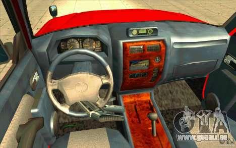 Toyota Land Cruiser Prado für GTA San Andreas Rückansicht