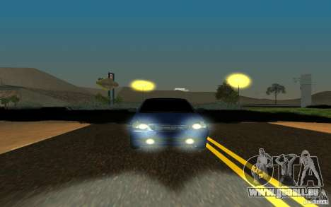 Tuning de voiture LADA PRIORA pour GTA San Andreas laissé vue