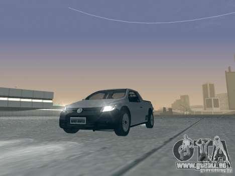 Volkswagen Saveiro 1.6 2009 pour GTA San Andreas vue intérieure