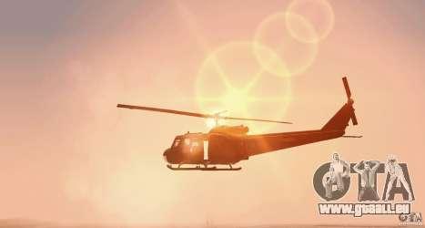 UH-1H für GTA San Andreas zurück linke Ansicht