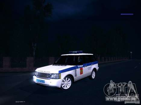 Range Rover Supercharged 2008 Police DEPARTMENT pour GTA San Andreas vue intérieure