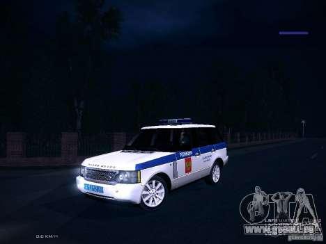 Range Rover Supercharged 2008 Police DEPARTMENT für GTA San Andreas Innenansicht
