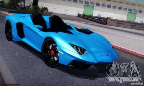 Lamborghini Aventador J für GTA San Andreas rechten Ansicht