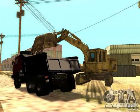 Pelle sur pneus pour GTA San Andreas