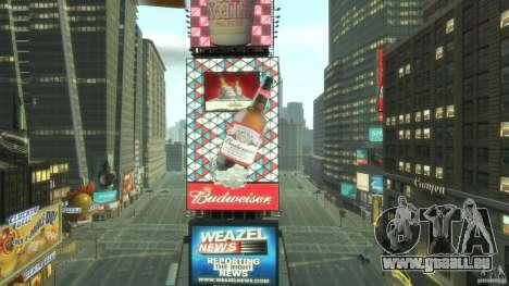 Timesquare Budweiser MOD pour GTA 4