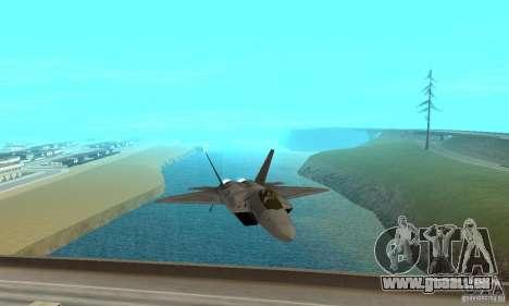 F-22 Grey pour GTA San Andreas vue arrière