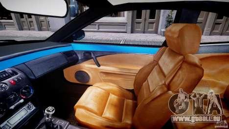 Fiat Coupe 2000 pour GTA 4 est une vue de l'intérieur