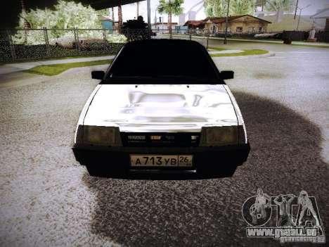 VAZ 2108 Chrome pour GTA San Andreas vue arrière