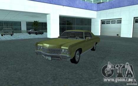 Chevrolet Impala 1971 für GTA San Andreas zurück linke Ansicht