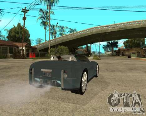 Ford Cobra Concept für GTA San Andreas zurück linke Ansicht