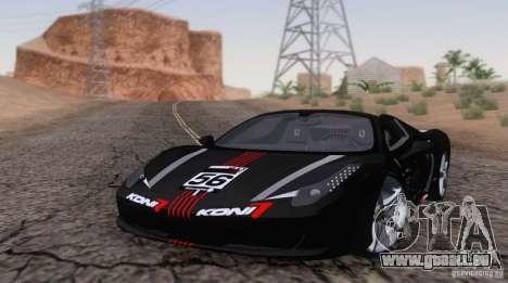 Ferrari F458 pour GTA San Andreas laissé vue