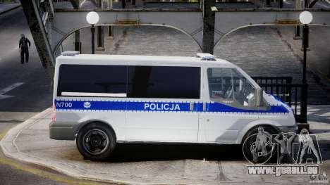 Ford Transit Polish Police [ELS] pour GTA 4 Vue arrière