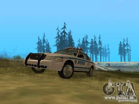 Ford Crown Victoria NYPD Police für GTA San Andreas linke Ansicht