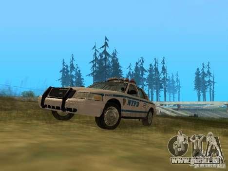 Ford Crown Victoria NYPD Police pour GTA San Andreas laissé vue