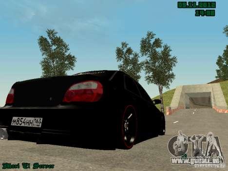 Subaru Impreza WRX pour GTA San Andreas laissé vue