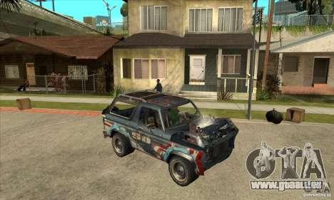 Blaster XL from FlatOut2 pour GTA San Andreas vue arrière