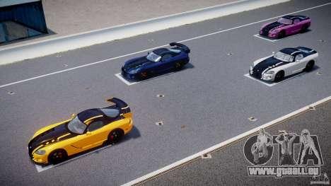 Dodge Viper SRT-10 ACR 2009 v2.0 [EPM] für GTA 4-Motor
