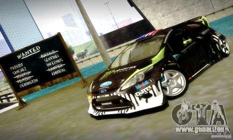Ford Fiesta Gymkhana 4 pour GTA San Andreas vue de dessous