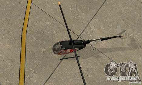 Robinson R44 Raven II NC 1.0 2 la peau pour GTA San Andreas vue arrière