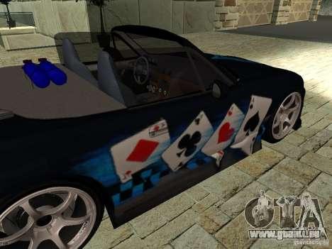 Mazda MX5 Miata pour GTA San Andreas vue de droite