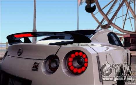 Nissan GTR 2011 Egoist (Version mit Schmutz) für GTA San Andreas Räder