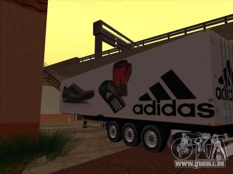 Remorque Adidas pour GTA San Andreas vue de droite