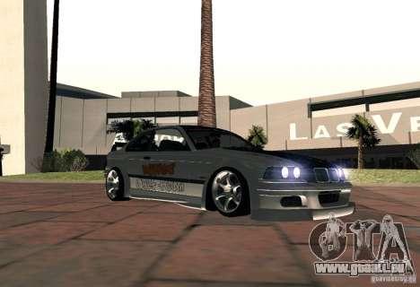 BMW M3 MyGame Drift Team für GTA San Andreas zurück linke Ansicht