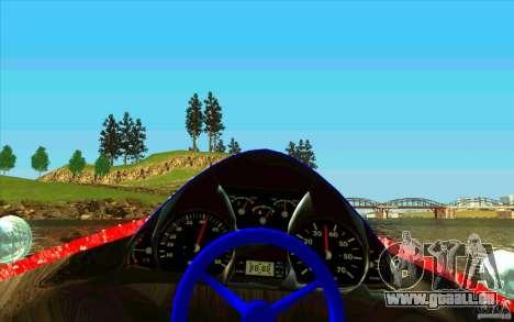 Race Boat für GTA San Andreas Rückansicht