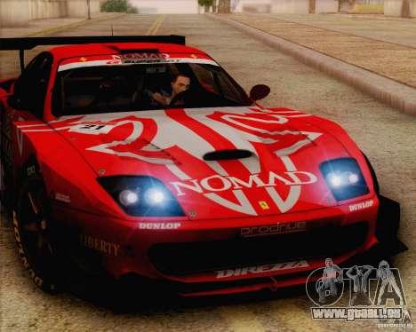 Ferrari 550 Maranello Super GT500 für GTA San Andreas zurück linke Ansicht