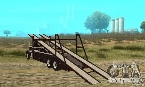 Kenworth Car Hauler pour GTA San Andreas sur la vue arrière gauche