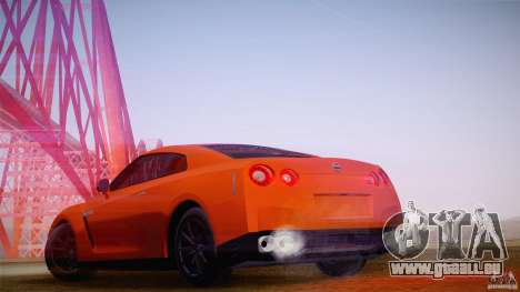 Nissan GTR R35 Tunable v2 pour GTA San Andreas laissé vue