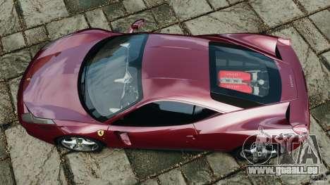 Ferrari 458 Italia 2010 v2.0 pour GTA 4 est un droit