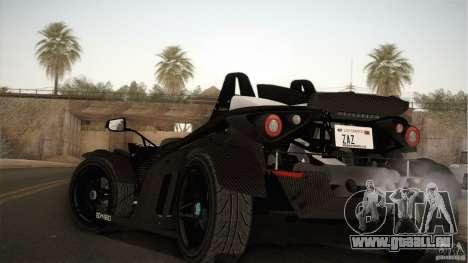 KTM-X-Bow für GTA San Andreas zurück linke Ansicht