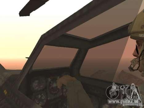 MI 28 Havok pour GTA San Andreas vue de dessous