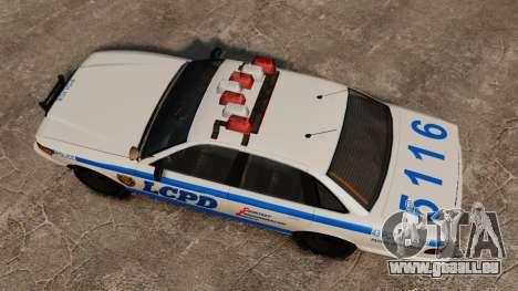 Eine neue Polizei-Kreuzer für GTA 4 rechte Ansicht