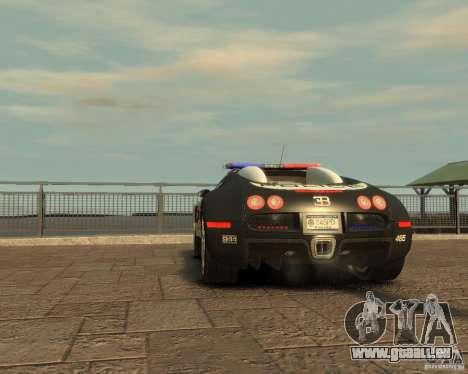 Bugatti Veyron Police [EPM] für GTA 4 Rückansicht