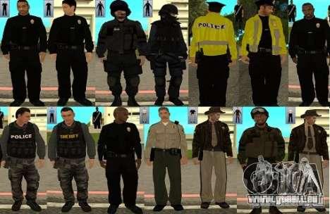 Pak Skins LAPD für GTA San Andreas