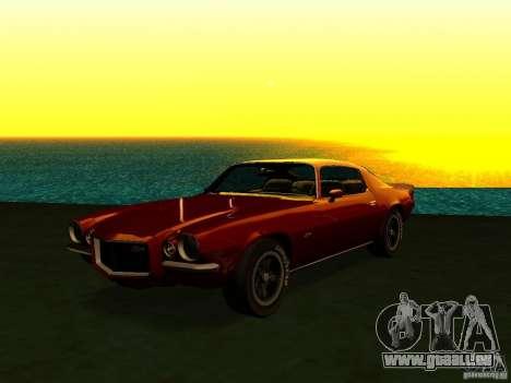 Chevrolet Camaro Z28 1972 pour GTA San Andreas laissé vue